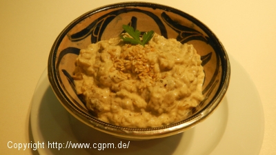 Baba Ganough – Auberginen Püree mit Sesam Paste